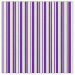 [ Thumbnail: Beige & Indigo Colored Lines/Stripes Pattern Fabric ]