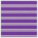 [ Thumbnail: Beige & Indigo Colored Stripes Pattern Fabric ]