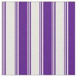 [ Thumbnail: Beige & Indigo Lines/Stripes Pattern Fabric ]