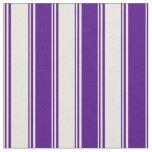 [ Thumbnail: Beige & Indigo Striped/Lined Pattern Fabric ]