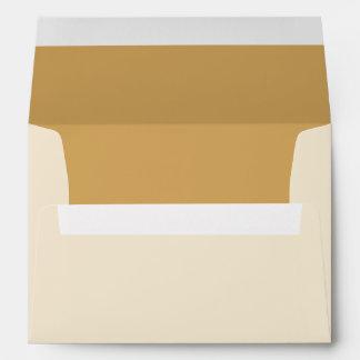 Beige Invitation Envelope w/ Return Address