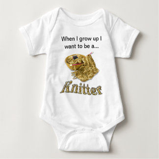 Beige Knitter - When I Grow Up I want to be a ... Tee Shirts
