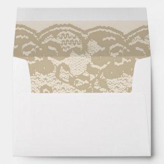 Beige lace envelope