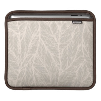 Beige Leaf Texture Sleeve For iPads