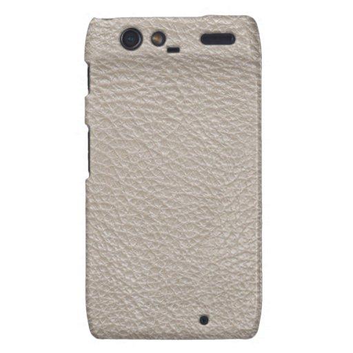 Beige Leather Print Texture Pattern Motorola Droid RAZR Case