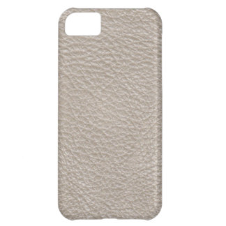 Beige Leather Print Texture Pattern Case For iPhone 5C