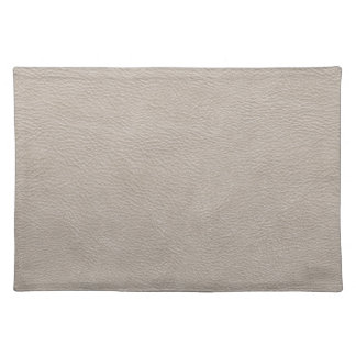 Beige Leather Print Texture Pattern Cloth Placemat