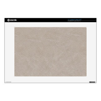 Beige Leather Print Texture Pattern Decal For Laptop