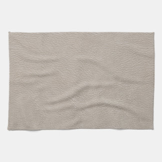 Beige Leather Print Texture Pattern Hand Towel