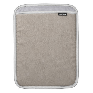 Beige Leather Print Texture Pattern Sleeve For iPads