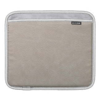 Beige Leather Print Texture Pattern Sleeves For iPads