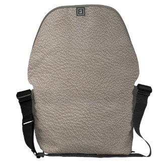 Beige Leather Print Texture Pattern Messenger Bag