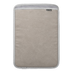 Beige Leather Print Texture Pattern Sleeve For Macbook Air at Zazzle