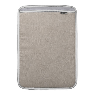 Beige Leather Print Texture Pattern Sleeve For MacBook Air