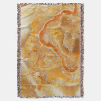 Beige & Light Brown Marble Stone Texture Throw Blanket