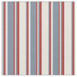 [ Thumbnail: Beige, Light Slate Gray, and Red Colored Pattern Fabric ]