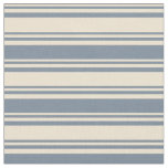 [ Thumbnail: Beige & Light Slate Gray Colored Stripes Fabric ]