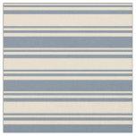 [ Thumbnail: Beige & Light Slate Gray Colored Stripes Fabric ]