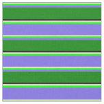 [ Thumbnail: Beige, Lime, Medium Slate Blue, Green & Black Fabric ]