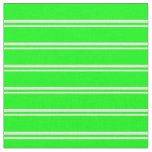 [ Thumbnail: Beige & Lime Striped Pattern Fabric ]