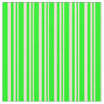 [ Thumbnail: Beige & Lime Stripes Pattern Fabric ]