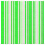 [ Thumbnail: Beige & Lime Stripes Pattern Fabric ]