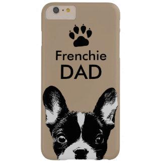 Beige lindo del dogo francés del papá de Frenchie Funda De iPhone 6 Plus Barely There