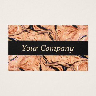 Beige Marble Business Company Card