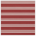 [ Thumbnail: Beige & Maroon Colored Lines Fabric ]