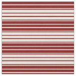 [ Thumbnail: Beige & Maroon Colored Lines Pattern Fabric ]