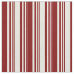 [ Thumbnail: Beige & Maroon Colored Pattern of Stripes Fabric ]