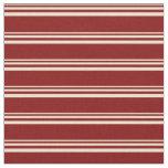 [ Thumbnail: Beige & Maroon Lines/Stripes Pattern Fabric ]