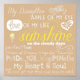 Beige mi poster del amor y de la inspiración de la