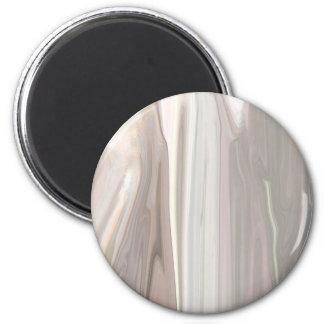 Beige Moire 2 Inch Round Magnet