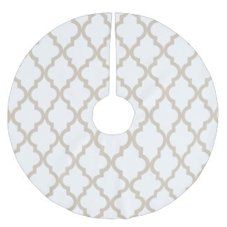 Beige Moroccan Pattern Brushed Polyester Tree Skirt