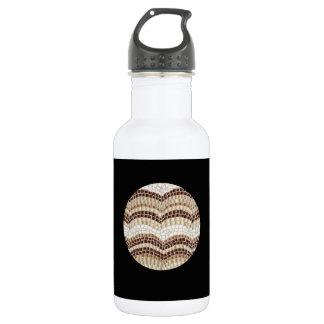 Beige Mosaic 18 Oz Water Bottle