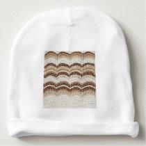 Beige Mosaic Baby Cotton Beanie