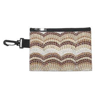 Beige Mosaic Clip On Accessory Bag