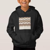 Beige Mosaic Kids' Pullover Hoodie