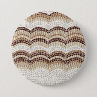 Beige Mosaic Large Round Button