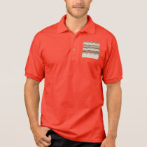 Beige Mosaic Men's Jersey Polo Shirt