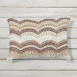 Beige Mosaic Outdoor Accent Pillow