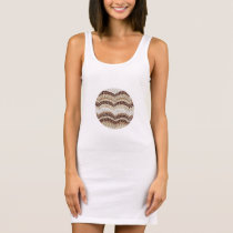 Beige Mosaic Tank Dress