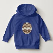 Beige Mosaic Toddler Pullover Hoodie
