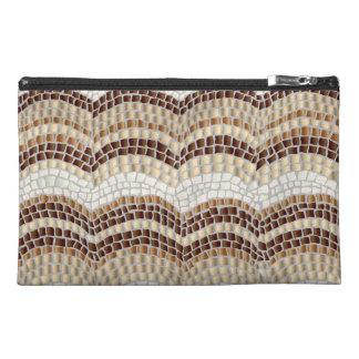 Beige Mosaic Travel Accessory Bag