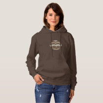 Beige Mosaic Women's Basic Hooded Sweatshirt