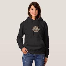 Beige Mosaic Women's Basic Hooded Sweatshirt