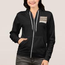 Beige Mosaic Women's Full-Zip Hoodie