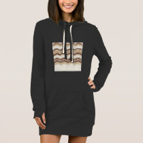 Beige Mosaic Women's Hoodie Dress