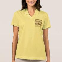 Beige Mosaic Women's Pique Polo Shirt